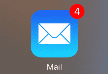 iPhone 1 Mail Badge icon
