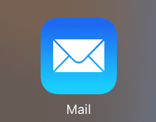 iPhone 2 Mail no badge icon