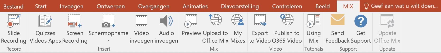 Office Mix lint