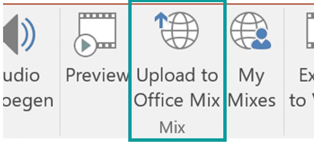 Office Mix uploaden