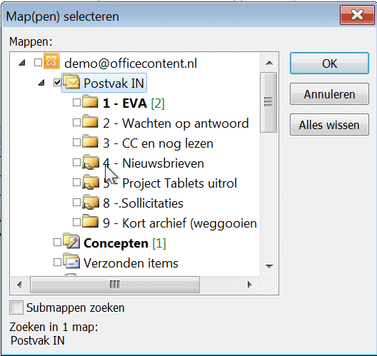Zoeken in Outlook2.2