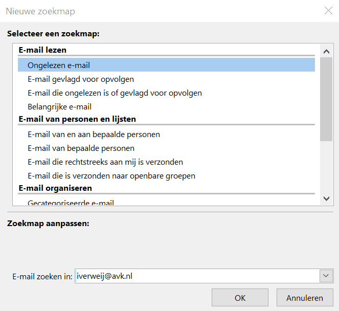 Zoeken in Outlook2.3