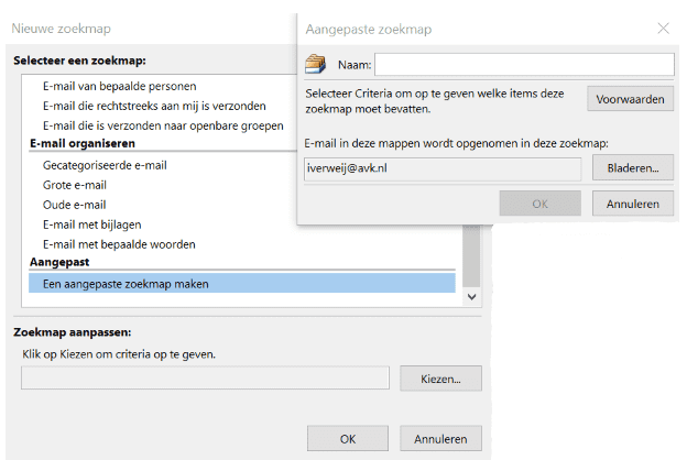 Zoeken in Outlook2.4