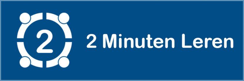 2 minuten leren