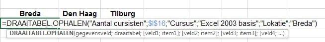 Excel dynamische gegevens draaitabel 8