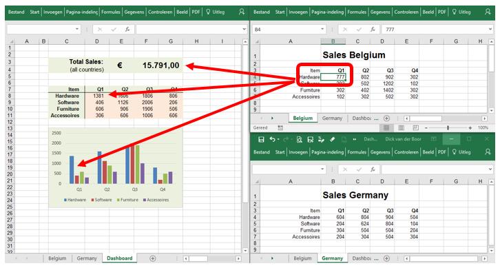 Excel werkbladen tegelijk in beeld 6