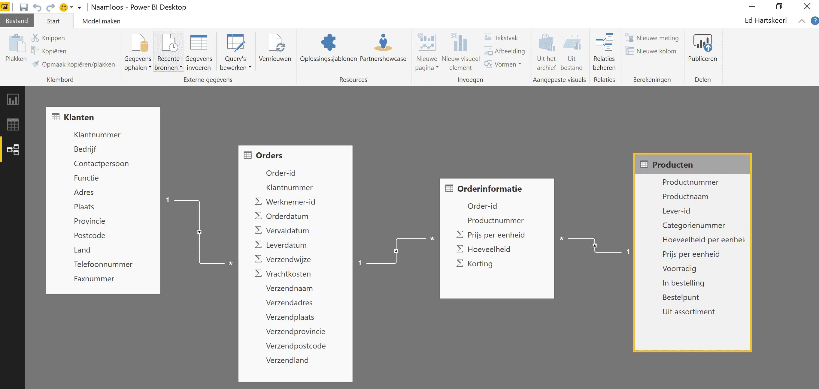 7 relaties in tabellen