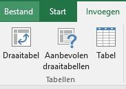 Excel tabel 1 maak