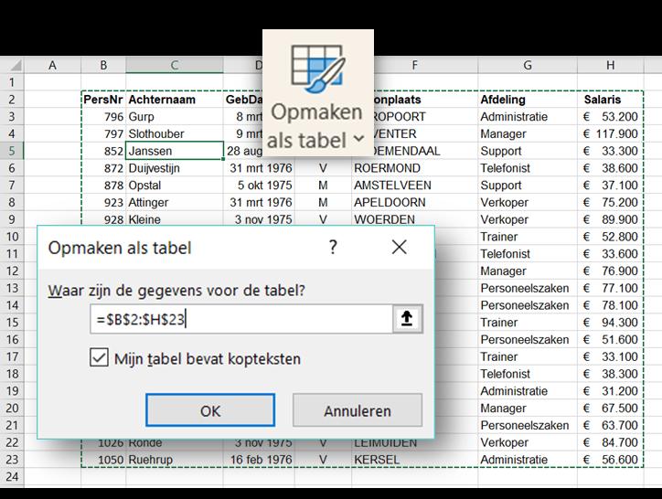 Knop Excel2