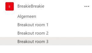 Teams Breakout room screenshot 1