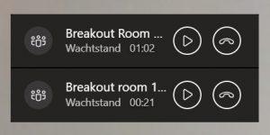 Teams Breakout rooms screenshot 4
