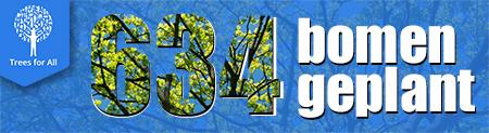 Study at home, plant een boom, 634 bomen