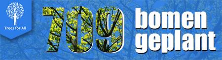 Study at home, plant een boom, 709 bomen