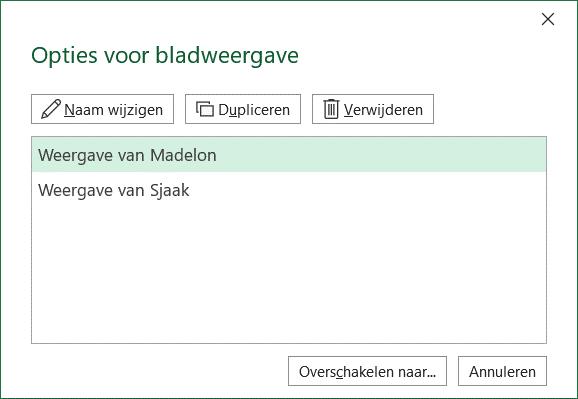 Excel bladweergave verwijderen