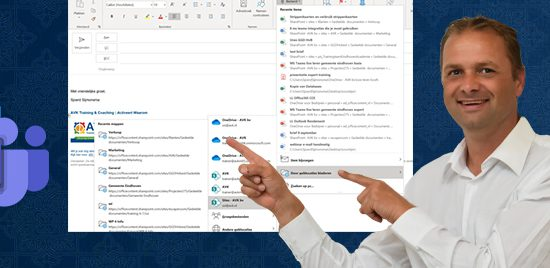 Teams bestand invoegen in Outlook
