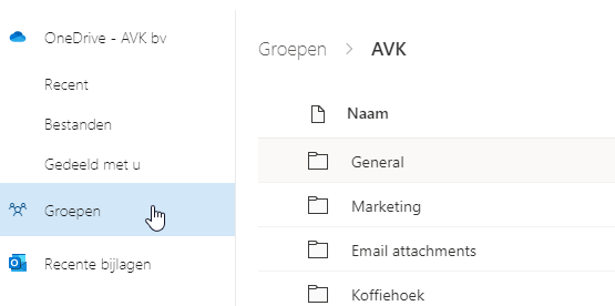 Teams bestand invoegen in Outlook Web