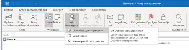 Groep contactpersonen maken in Outlook