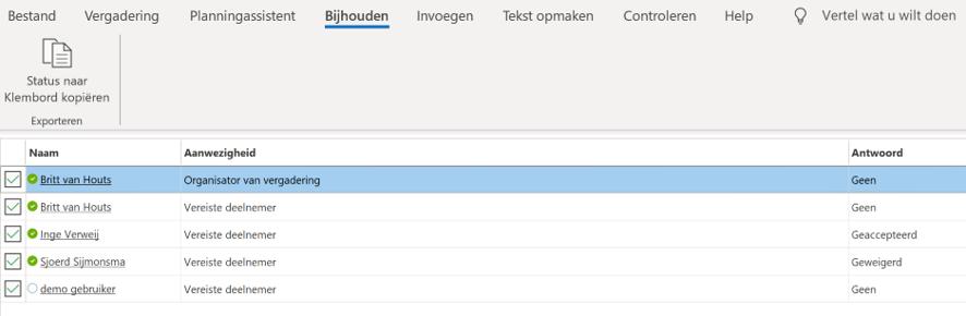 Outlook update vergaderverzoek
